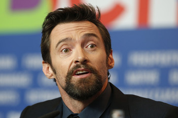 """Actor Jackman speaks during a news conference to promote the movie """"Les Miserables"""" at the 63rd Berlinale International Film Festival in Berlin"""
