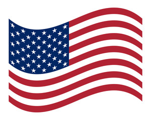 American Flag Official symbol of the state