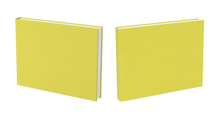 Front and back view of standing blank book cover
