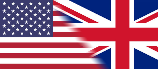 Flag of USA and Great Britain