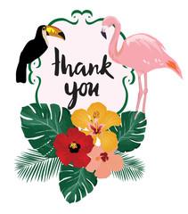 vector thank you card