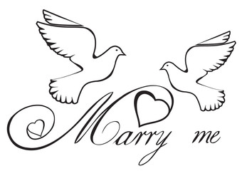 Vector Marry Me Card