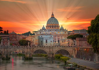St. Peter's cathedral in Rome, Italy  Fototapete
