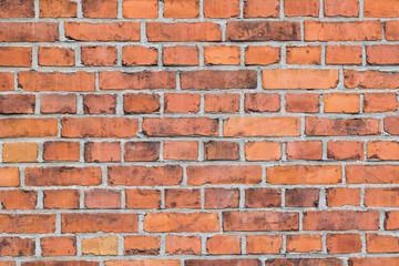 Spoed Foto op Canvas Baksteen muur Background of red brick wall texture.