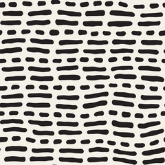 Abstract Background With Rounded brush strokes. Doodle Vector Seamless Pattern.