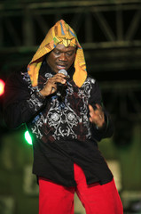Reggae singer Ramses De Kimon from Ivory Coast performs during the closing ceremony of the MASA festival in Abidjan