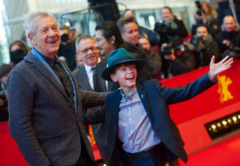 Actors McKellen and Linney arrive for screening at 65th Berlinale International Film Festival in Berlin