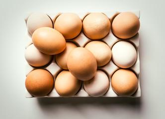 Natural Eggs in a Glass Carton