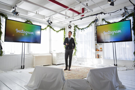 Instagram CEO and co-founder Systrom announces the launch of Instagram Direct in New York