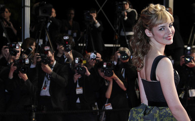 Actress Bourgoin arrives on the red carpet at the 63rd Cannes Film Festival