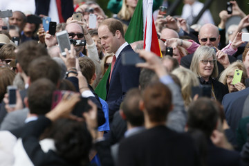 Britain's Prince William attends an event marking the 800th anniversary of Magna Carta in Runymede
