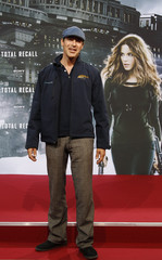 German actor Burkhard poses on the red carpet before Germany premiere of movie Total Recall in Berlin