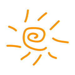 Sun, hand drawn icon