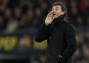 Barcelona's coach Luis Enrique during their Champions League round of 16 second leg soccer match against Manchester City in Barcelona