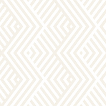 Abstract ZigZag Parallel Stripes. Stylish Ethnic Ornament. Vector Seamless Pattern