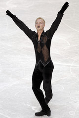 Schultheiss of Sweden performs during the men's short program at the European Figure Skating Championships in Tallinn