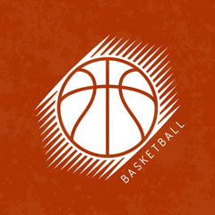 Basketball logo vector illustration sport grunge background