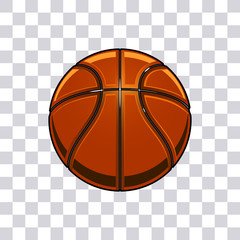 Basketball vector illustration isolated on transparent background