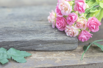 Soft focus color of artificial flowers for background.