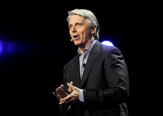 Electronic Arts' CEO Riccitiello introduces their new lineup during the EA news conference as part E3 in Los Angeles