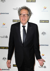 Australian actor Geoffrey Rush arrives during the G'Day USA Black Tie Gala in Los Angeles, California,