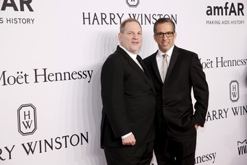 Film producer Harvey Weinstein and designer Kenneth Cole attend the 2016 amfAR New York Gala at Cipriani Wall Street in Manhattan, New York.