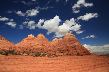 Rock formations in the North Coyote Buttes, part of the Vermilion Cliffs National Monument. This area is also known as The Wave