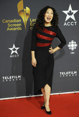 Actress Sandra Oh arrives for the Canadian Screen Awards in Toronto