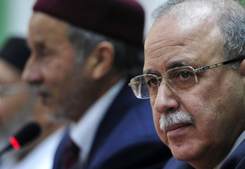 Libyan PM Keib and NTC Chairman Jalil speak in Benghazi
