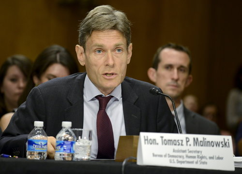 Senate Foreign Relations Committee holds hearings on world slavery and human rights, in Washington