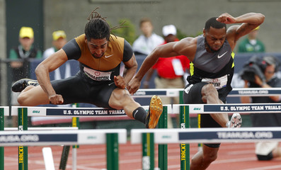 Richardson and Payne compete in 110m hurdles semi-final at the U.S. Olympic athletics trials in Eugene