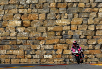 Speed Up Moto2 rider Sam Lowes of Britain rides his bike during the Aragon Motorcycling Grand Prix in Alcaniz, northern Spain