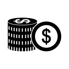 coins money dollar icon vector illustration design