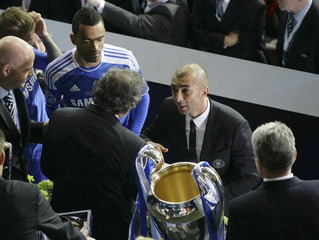 File photogrpah shows Chelsea's coach Roberto di Matteo attending the award ceremony after winning the Champions League final soccer match against Bayern Munich at the Allianz Arena in Munich
