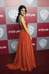 Actress Selena Gomez poses at the InStyle after-party for the 68th annual Golden Globe Awards in Beverly Hills