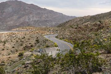 Curvy Road in Mountain Desert Landscape