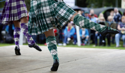 Highland dancers compete at the Birnam Highland Games in Scotland