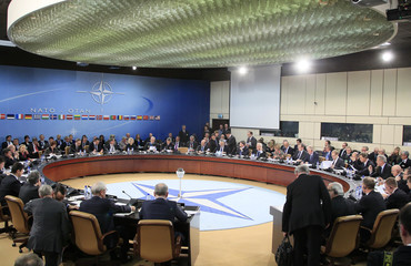 NATO foreign ministers meet at the Alliance's headquarters in Brussels