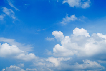 dramatic abstract clouds over the blue sky background