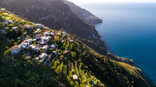Mountain Houses Aerial Photo