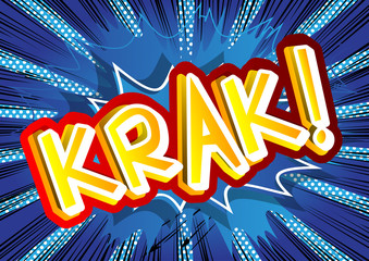 Fototapeta Krak! - Vector illustrated comic book style expression. obraz