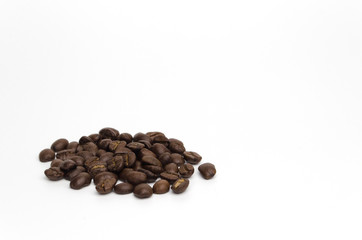 The coffee beans isolate on white background