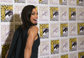 "Cast member Dawson poses at a press line for ""Sin City: A Dame to Kill For"" during the 2014 Comic-Con International Convention in San Diego"