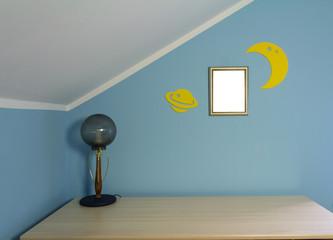 Writing desk in the children's room
