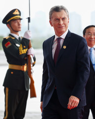 Argentina's President Mauricio Macri arrives to attend the G20 Summit in Hangzhou