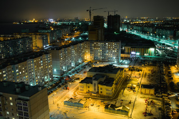 Sleeping areas of night Khabarovsk