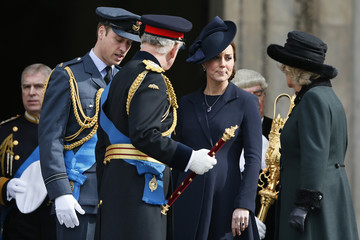 Britain's Prince William, Prince Charles, Catherine, Duchess of Cambridge and Camilla, Duchess of Cornwall, leave following the Afghanistan service of commemoration at St Paul's Cathedral in London