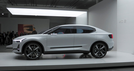 File photo of the new Volvo concept car based on Volvo and Geely's common new CMA platform is presented during the media event in Gothenburg