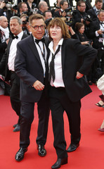 """Actress Jane Birkin poses on the red carpet as she arrives for the opening ceremony and the screening of the film """"Cafe Society"""" out of competition during the 69th Cannes Film Festival in Cannes"""