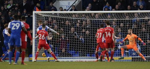 Ipswich's Christophe Berra scores their second goal